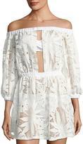 Milly Jenny Crochet-Lace Coverup Dress