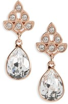 Nina Women's Art Nouveau Double Drop Crystal Earrings