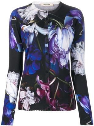Roberto Cavalli floral print cardigan