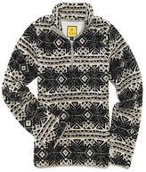 Aeropostale Womens Prince & Fox Printed Bear Fleece Half Zip Jacket