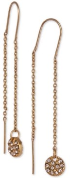 Laundry by Shelli Segal Gold-Tone Pave Disc Threader Earrings