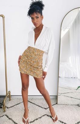 Beginning Boutique Homecoming Queen Skirt Mustard