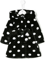 Little Marc Jacobs polka dot faux-fur coat