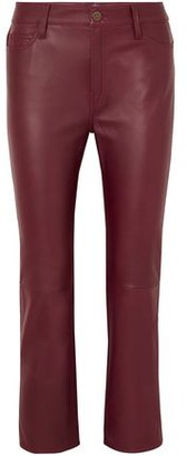 MiH Jeans Daily Cropped Leather Straight-leg Pants