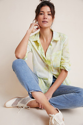Pilcro And The Letterpress The Cate Classic Tie-Dye Buttondown By in Blue Size XS