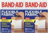 Safety First Band-Aid Flexible Fabric Adhesive Bandages - Assorted Sizes