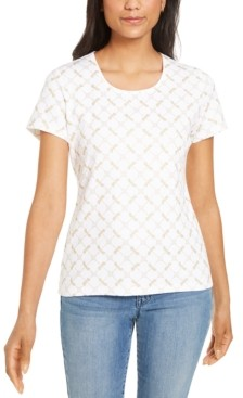 Karen Scott Glitter-Printed Top, Created for Macy's