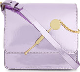 Sophie Hulme Cocktail stirrer small mirrored leather cross-body bag