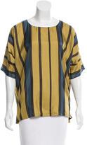Dries Van Noten Striped Silk Top