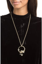 Roberto Cavalli Embellished Necklace with Tiger Motif