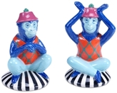 Tracy Porter Reverie Blue Monkey Salt & Pepper Set