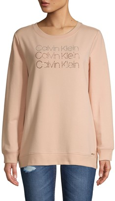 Calvin Klein Sequin Cotton-Blend Sweatshirt