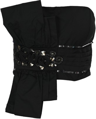 MM6 MAISON MARGIELA Embellished Strapless Top