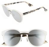 Christian Dior Women's Onde 1 50Mm Round Sunglasses - Black/ Havana