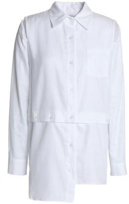 Milly Asymmetric Cutout Cotton-poplin Shirt