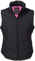 Aeropostale Solid Chevron Quilted Vest
