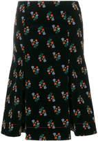 Sonia Rykiel velvet floral print skirt