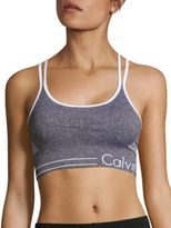Calvin Klein Heathered Dual-Strap Sports Bra