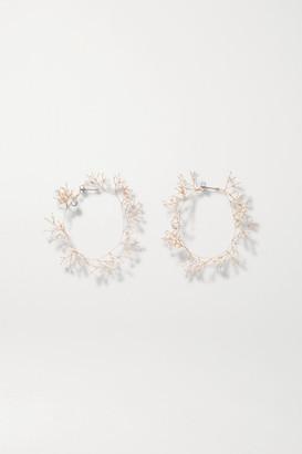 14 / Quatorze Baby's Breath Gold-tone Pearl Hoop Earrings - one size