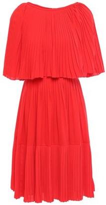 Kate Spade Cape-effect Pleated Crepe Dress