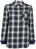 Courreges checked chest pocket shirt - women - Cotton - 40