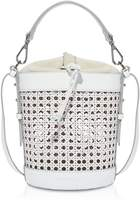 Coccinelle Beta Vienna Straw and Leather Shoulder Bag