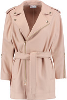 RED Valentino Belted brushed wool-blend coat