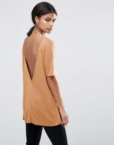 Asos V Back T-Shirt With Short Sleeve
