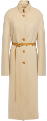 Helmut Lang Belted Brushed-felt Wool And Cashmere-blend Coat