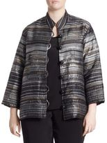 Caroline Rose Multicolored Metallic Jacquard Jacket