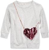 Jessica Simpson Sequin-Heart Purse Sweater, Big Girls (7-16)