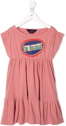 The Animals Observatory logo print dress