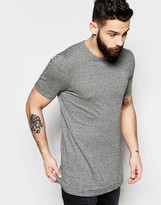 Asos Longline Knitted T-Shirt in Mustard Twist