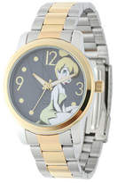 Disney Princess Disney Tinker Bell Womens Two-Tone Stainless Steel Watch Family