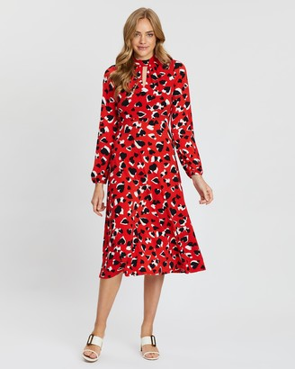 Wallis Graphic Heart Print Midi Dress