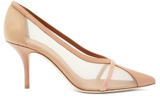 Malone Souliers Brook Mesh And Leather Pumps - Womens - Nude