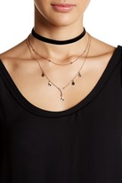 Stephan & Co Crystal Pave Drop Choker