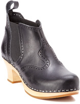 Swedish Hasbeens Victorian Leather Platform Bootie
