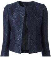Tagliatore sequin embellished cropped jacket - women - Acrylic/Polyester/Cupro/Wool - 40