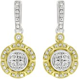 EternalDia Diamond Composite Earring 1/2 ct tw Round-cut, 14K Yellow & White Gold