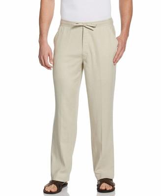"Cubavera 30"" Inseam Single Pocket Drawstring Linen Pant"
