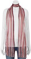 Apt. 9 Zigzag Stripe Knit Skinny Scarf