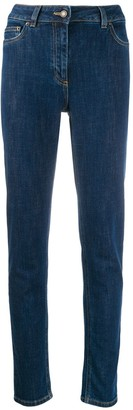 Moschino Teddy embroidered skinny jeans
