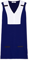 Prabal Gurung Preorder Viscose Crepe V-Neck Shift Dress With Tulle Bar Inserts