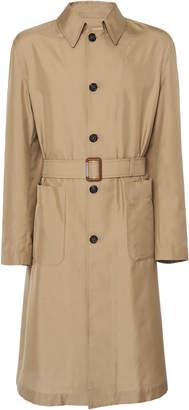 Alexander McQueen Belted Nylon and Silk-Blend Gabardine Trench Coat