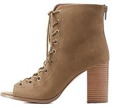 Charlotte Russe Lace-Up Chunky Sandals