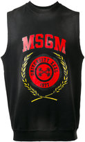 MSGM sleeveless logo tank