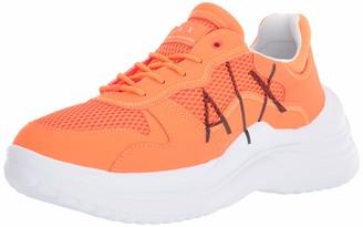 Armani Exchange A|X Men's High Colorful Side Logo Lace Up Sneaker