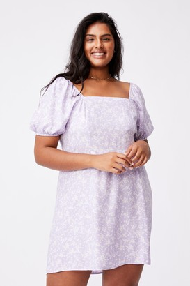 Cotton On Curve Woven Lylah Bell Sleeve Mini Dress