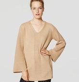 LOFT Bell Sleeve Tunic Sweater